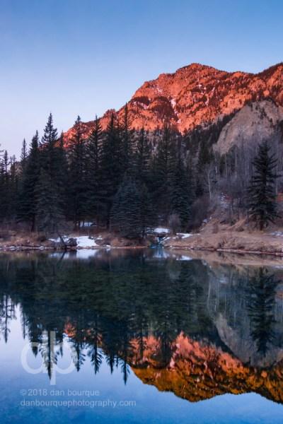 Alpenglow Reflections landscape photo by Dan Bourque