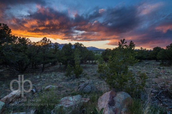 Colorado Sky on Fire landscape photo by Dan Bourque