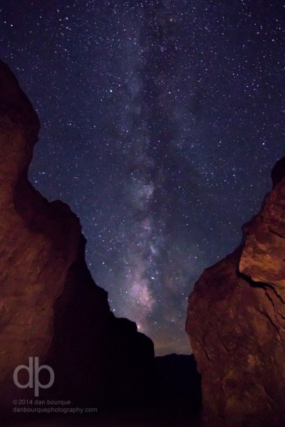Galaxy Between Canyon Walls starscape photo by Dan Bourque