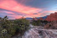 Hard Rocks Covered in Soft Sunset landscape photo of Garden of the Gods Colorado by Dan Bourque