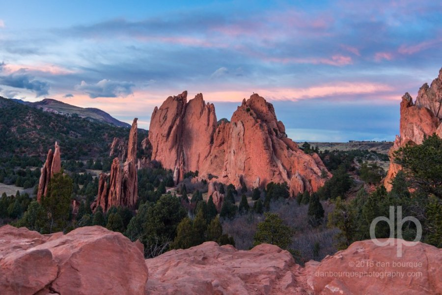 Red Rock Fortress landscape photo by Dan Bourque