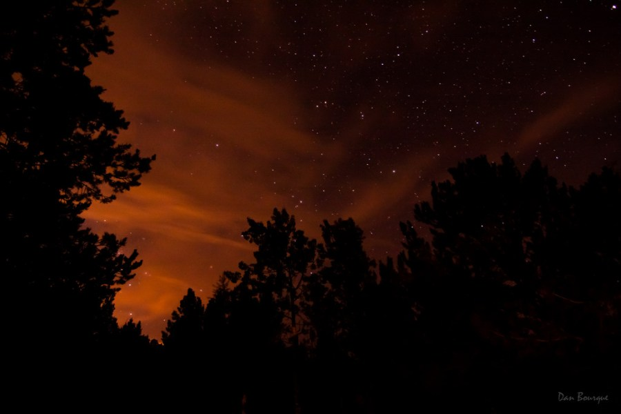 Stars Behind a Red Veil night sky photo of Colorado by Dan Bourque