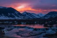 Sunset over Coal Creek landscape photo by Dan Bourque