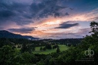 Sunset Over the Air Force Academy landscape photo by Dan Bourque
