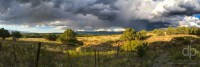 The Fence and the Storm landscape photo by Dan Bourque