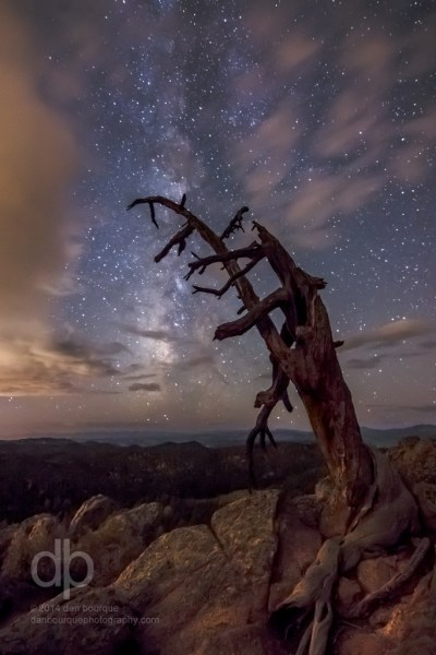 The Old and the Ancient night landscape photo by Dan Bourque