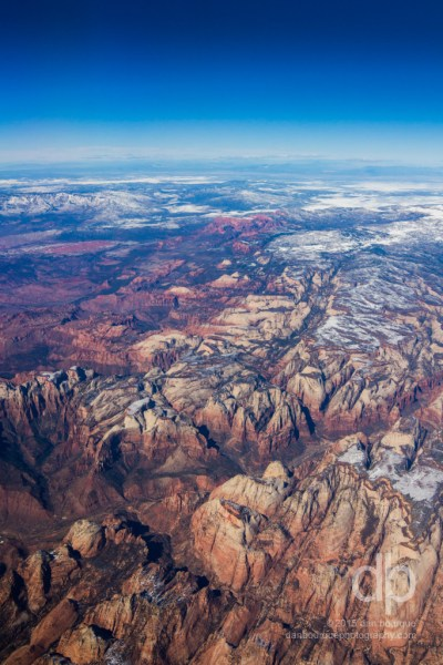 Zion from the Edge of Space landscape photo by Dan Bourque
