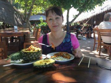 コーラル島の昼食