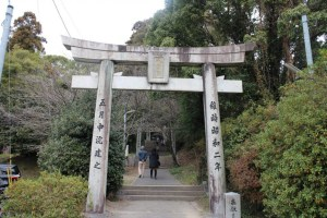 筑紫神社南(長崎街道)