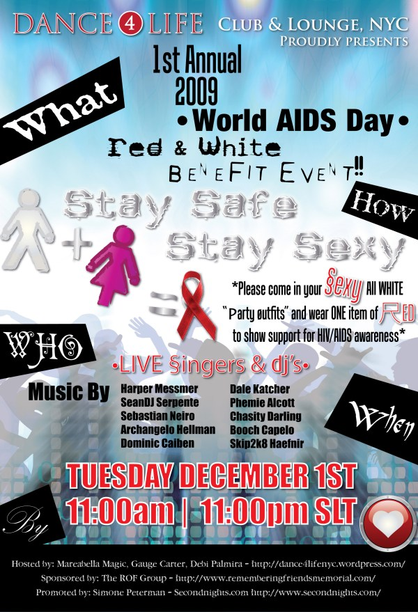World Aids Day December 1st Huge Success Ce Club & Lounge Nyc