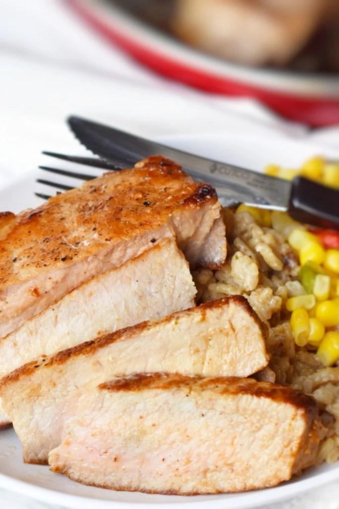sliced 10 minute pork chops