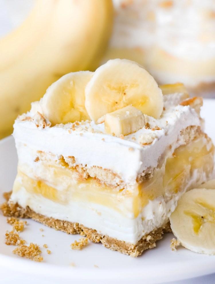 Piece of Banana Pudding Dessert