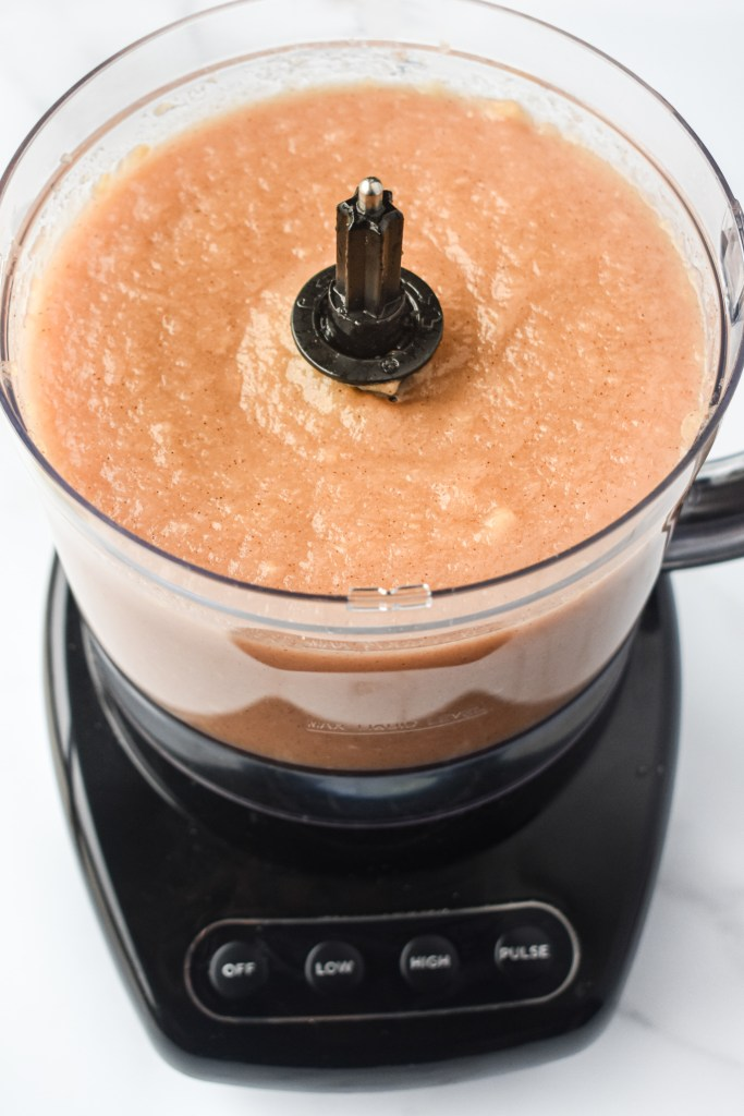 Homemade Applesauce in the food processor