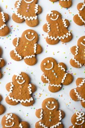 Soft Gingerbread Cookies decorated