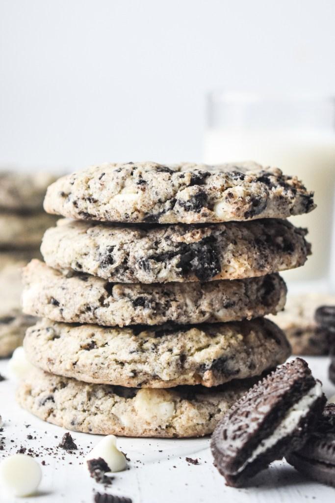 Stack of Cookies & Cream Cookies