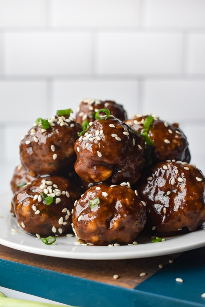 Korean Meatballs on a white plate