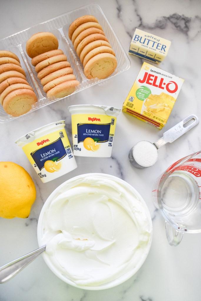 Ingredients needed for lemon pie