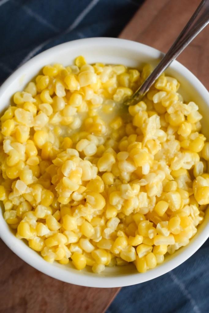 bowl of sweet corn