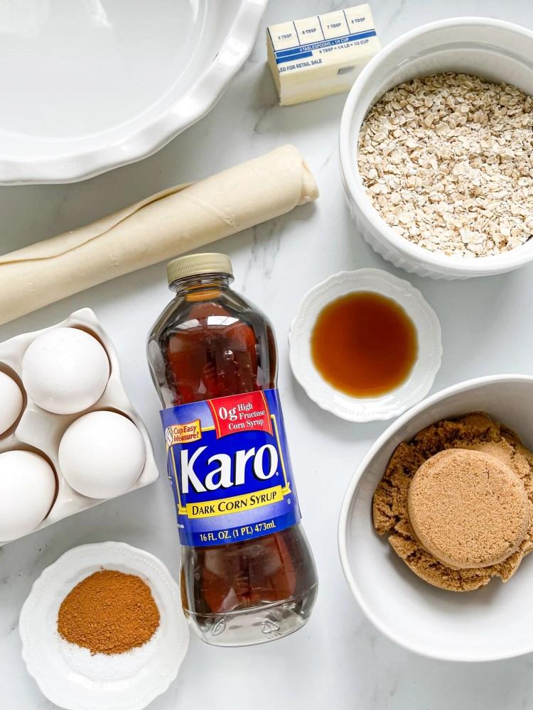 ingredients used in oatmeal pie