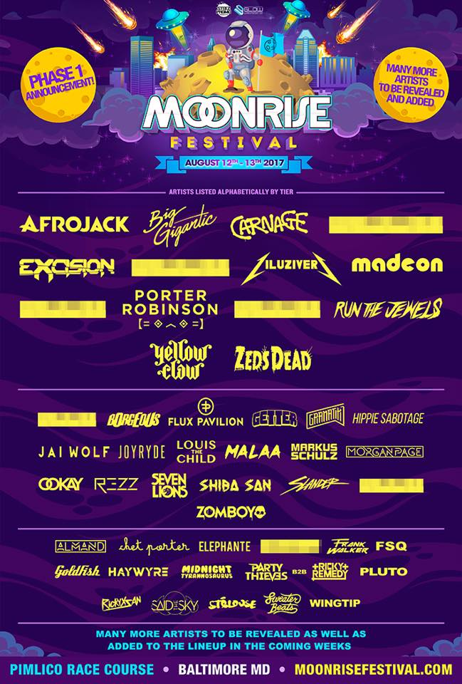 Moonrise Phase 1 Lineup 2017