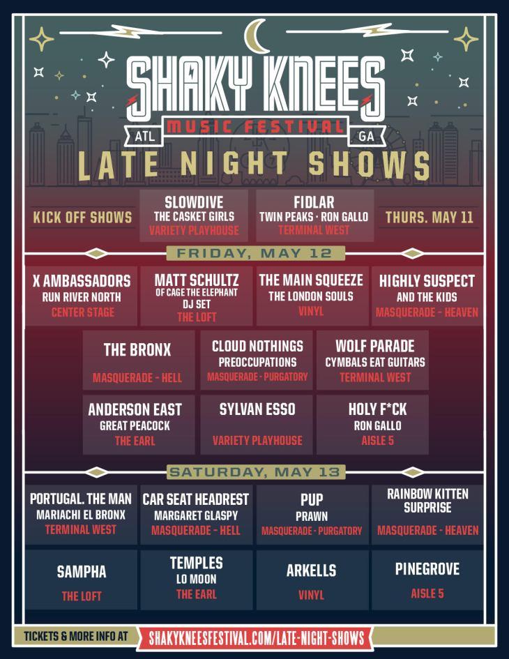 Shaky Knees Schedule 2017