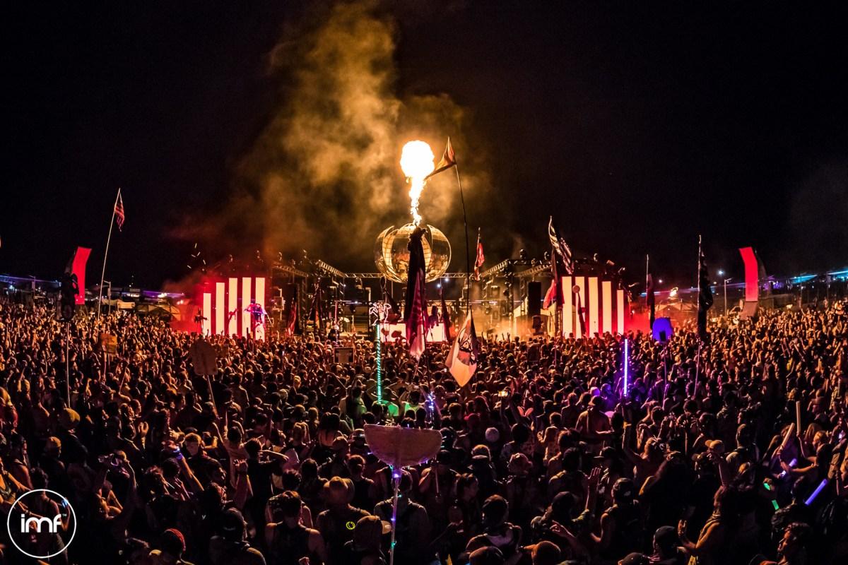 imagine music festival disco inferno stage