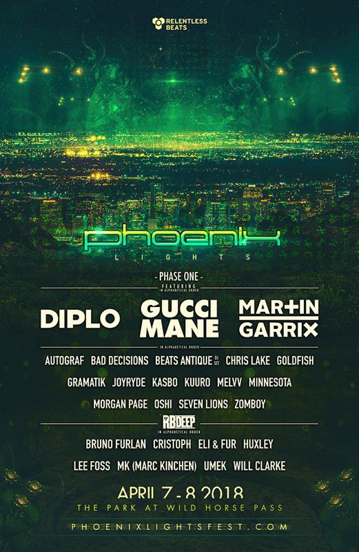 Phoenix Lights 2018 Lineup