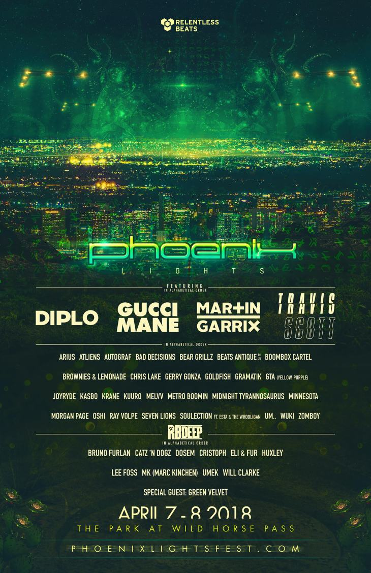 Phoenix Lights 2018 Full Lineup