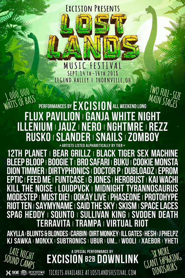 Lost Lands 2018 Lineup