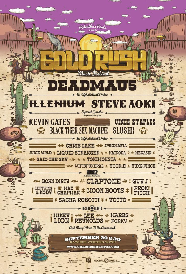 Goldrush 2018 Lineup