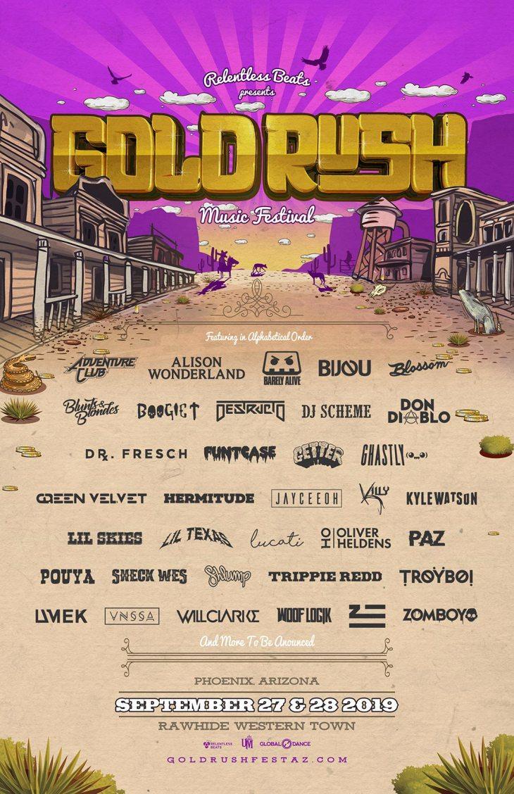 Gold Rush 2019 Final Lineup