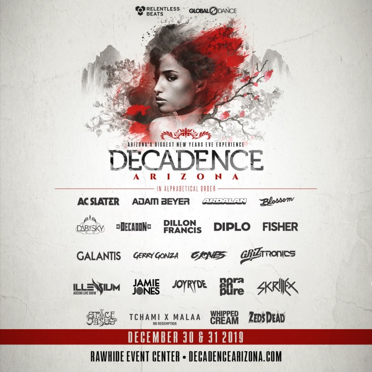 Decadence AZ 2019 Lineup