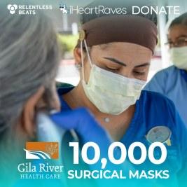 Relentless Beats & iHeartRaves Donate 10,000 Masks