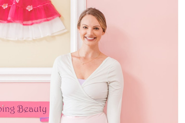 Brooke Taylor, owner of three Tutu School dance-studio franchise locations, in one of the studios.