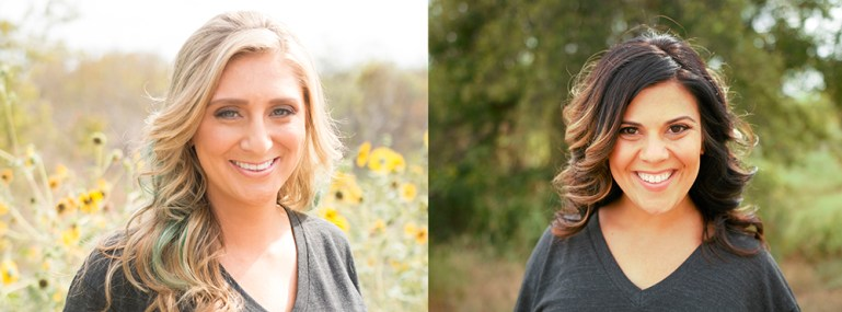 Founders of Apolla Performance Wear: Kaycee Jones, with blond hair, on left; Brianne Zborowski, with dark hair, on right.