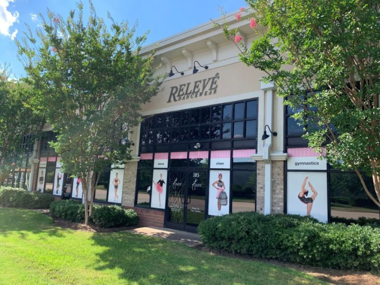 Relevé Dancewear store with otters of different types of dancers