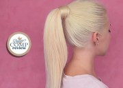 high ponytail with clip in extensions