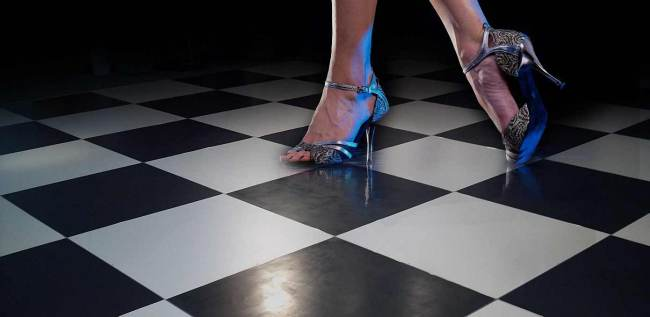 Woman-on-black-and-white-dance-floor