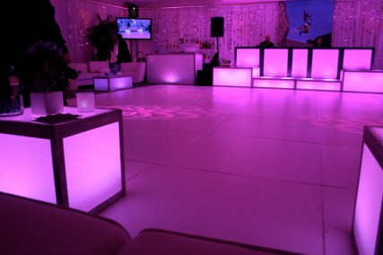 speciality lighting on dance floor