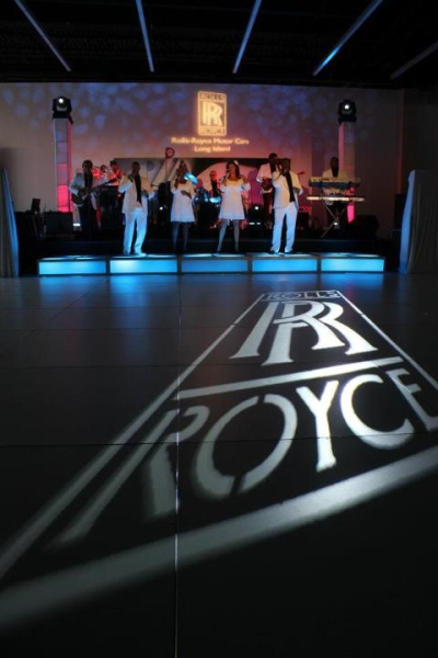 gobo on white dance floor