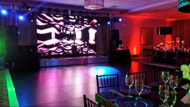 matte black portable dance floor event production