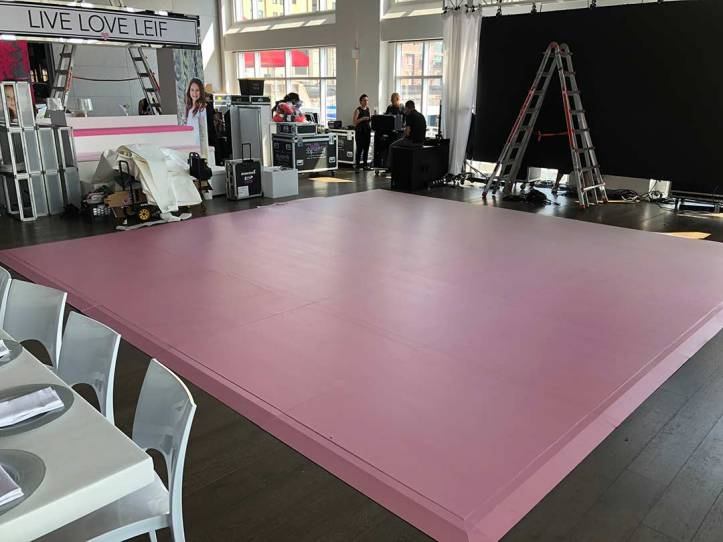 Pink wrapped dance floor