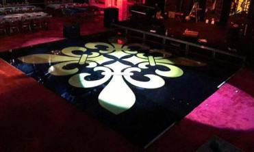 acrylic dance floor with decal