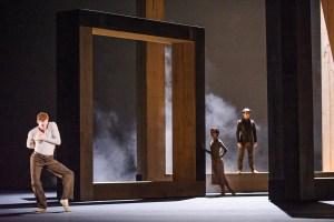 The Royal Ballet's Edward Watson, Akane Takada and Tristan Dyer in McGregor's Woolf Works Photo: Tristram Kenton