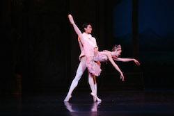 Queensland Ballet Clare Morehen & Huang Junshuang in Cinderella 2013. Photo David Kelly.