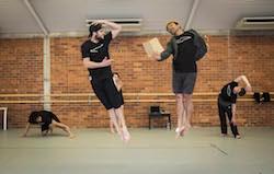 Chris Ofanoa and Tupua Tigafua from The New Zealand Dance Company.
