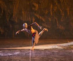 Waangenga Blanco in 'Patyegarang', Bangarra Dance Company