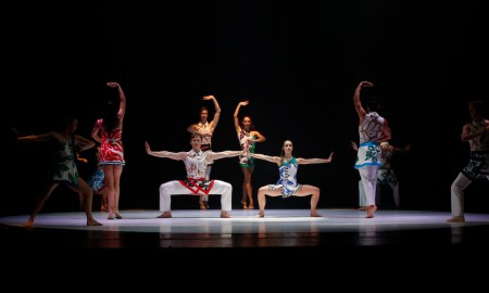 RNZB dancers in 'The Anatomy of a Passing Cloud'. Photo by Evan Li.