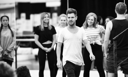 American Idiot in rehearsal, with choreographer Lucas Newland. Photo courtesy of Newland.