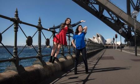 Maggie McKenna (Muriel) and Madeleine Jones (Rhonda) in 'Muriel's Wedding'. Photo by Nic Walker